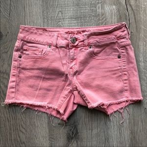 COPY - Salmon Pink Distressed American Eagle Shor…